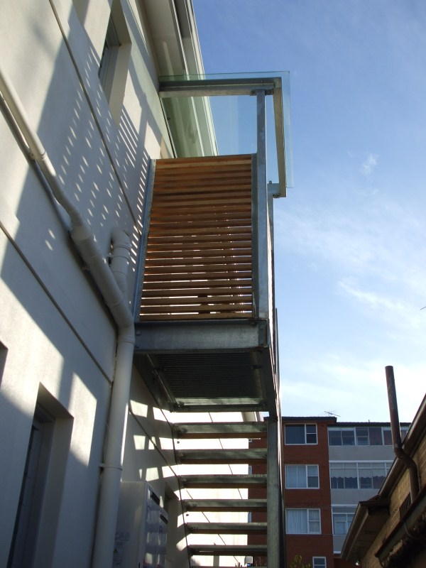 Randwick Fabricated stairs with timber steps