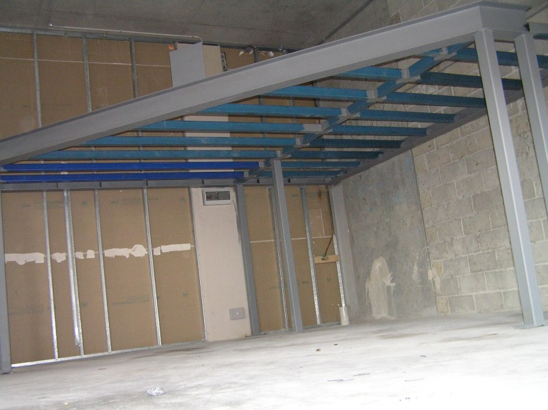 Mezzainie Floors after fabrication