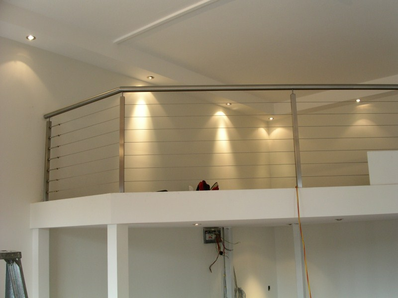 Mezzainie Floors after installation (we also designed and installed the balustrade)
