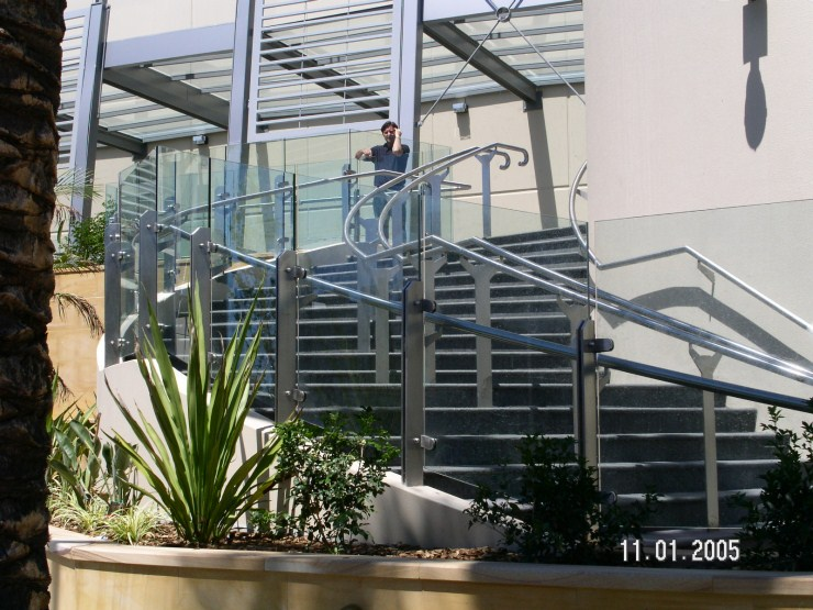 Glass Balustrade with Handrail