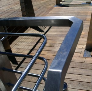 External Wire Blaustrade with Handrail Sydney CBD