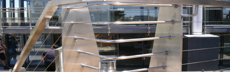 External Wire Blaustrade with Handrail Sydney